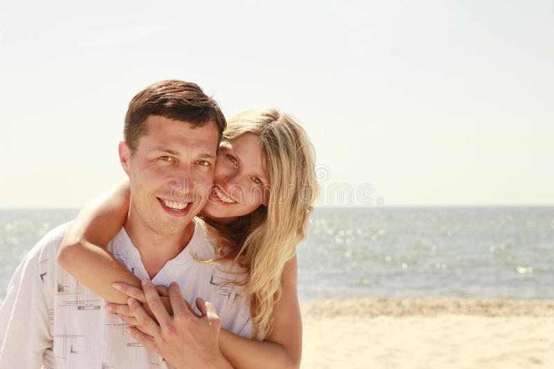Download Couple  On The Shore Of The Sea Stock Photo - Image: 32066052