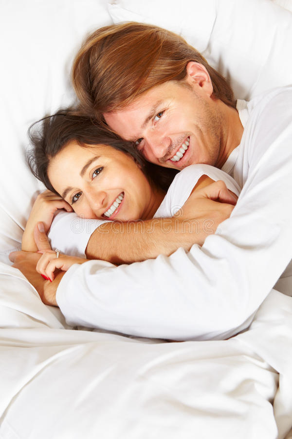 Couple Showing Romance On Bed Royalty Free Stock Photo