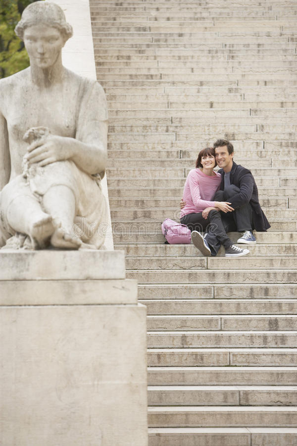 Download Couple Sightseeing On Steps Stock Photo - Image: 31840712