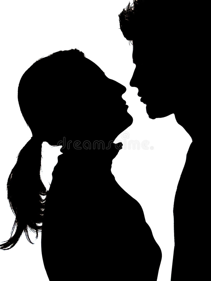 Couple Silhouette stock images