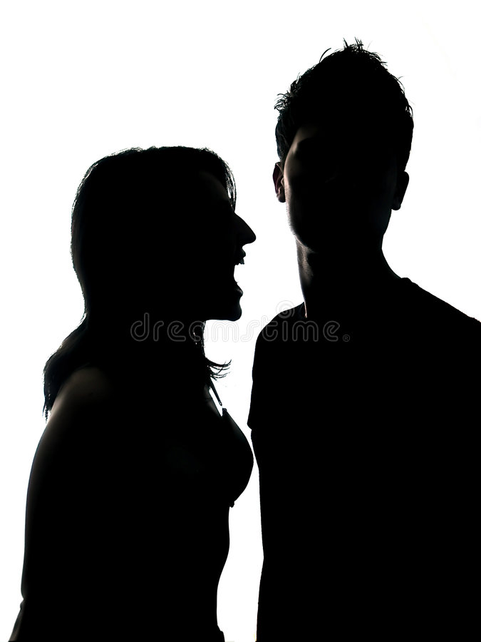 Couple Silhouette stock photo