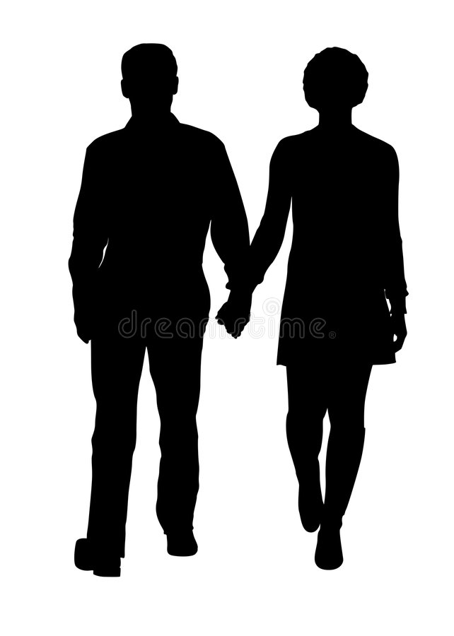 Free Couple Silhouette Stock Photography - 3567562