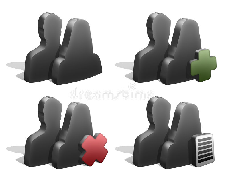 Download Couple Silhouettes Icons stock illustration. Image of family - 7647640