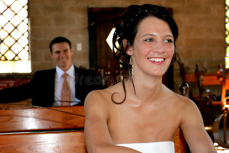 Couple Sitting stock images