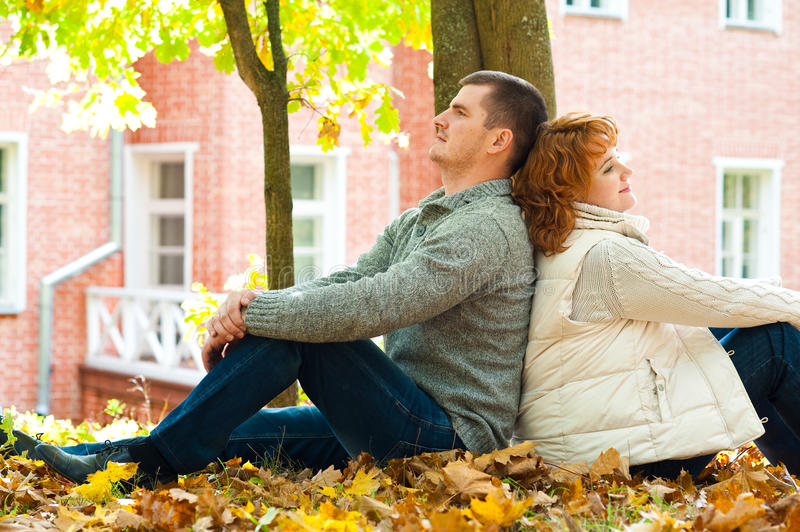 Download Couple sitting on ground stock photo. Image of park, colorful - 22125238
