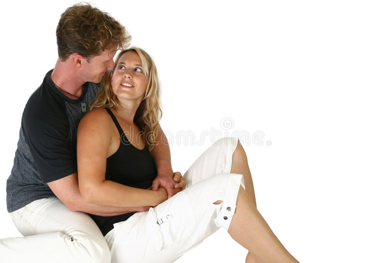 couple sitting thirties στοκ φωτογραφία με δικαίωμα ελεύθερης χρήσης