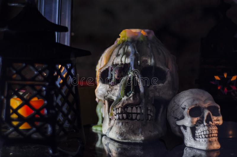 Couple skull royalty free stock images