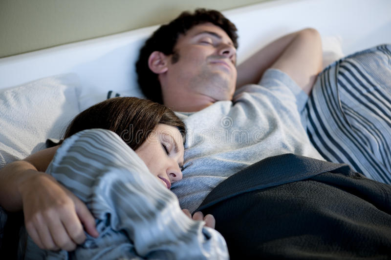 Download Couple sleeping stock photo. Image of sleeping, heterosexual - 16870828