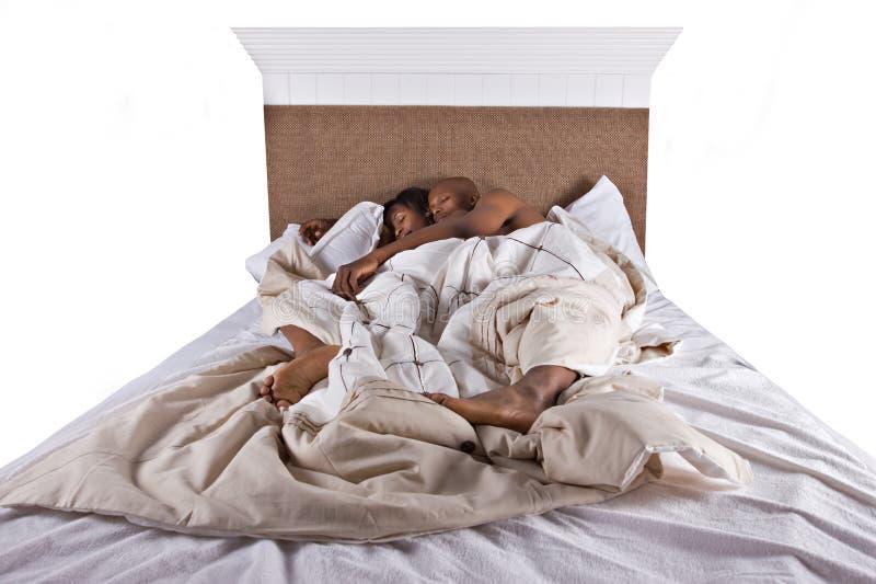 Couple sleeping royalty free stock image