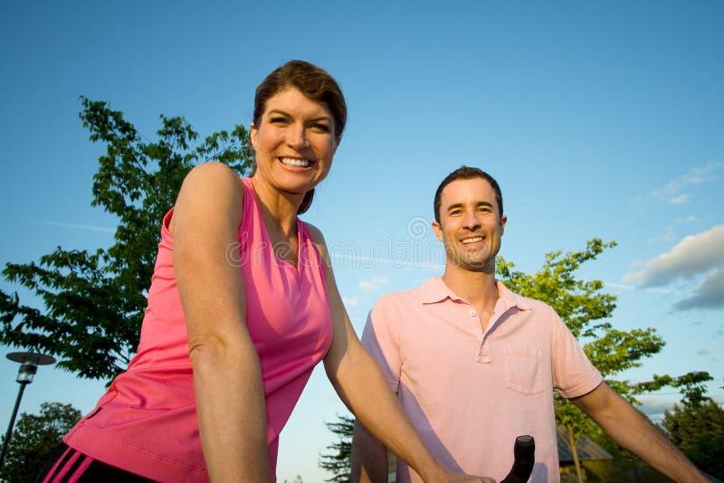 Couple Smiling - Horizontal royalty free stock images