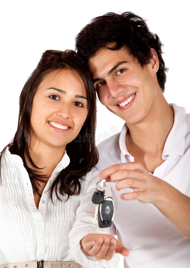 Download Couple with some keys stock photo. Image of young, friends - 14628022