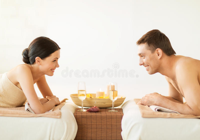 Download Couple in spa stock photo. Image of concept, candles - 32103732