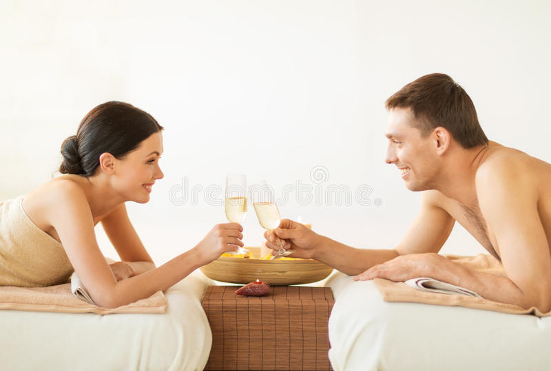 Couple In Spa Royalty Free Stock Image