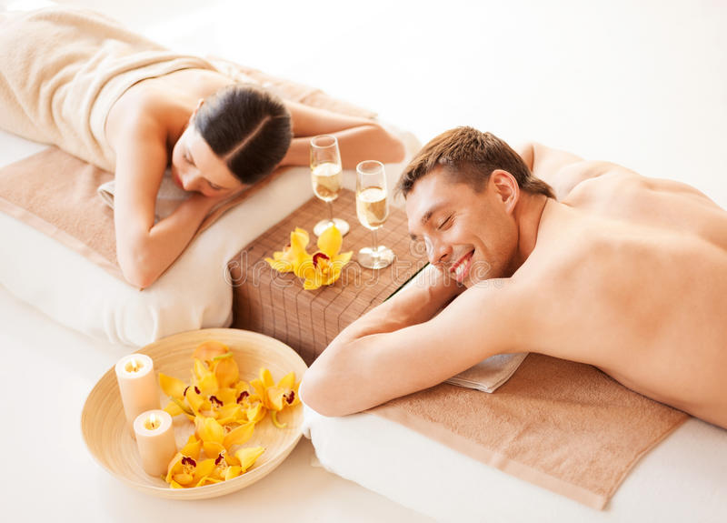 Download Couple In Spa Royalty Free Stock Image - Image: 32103706