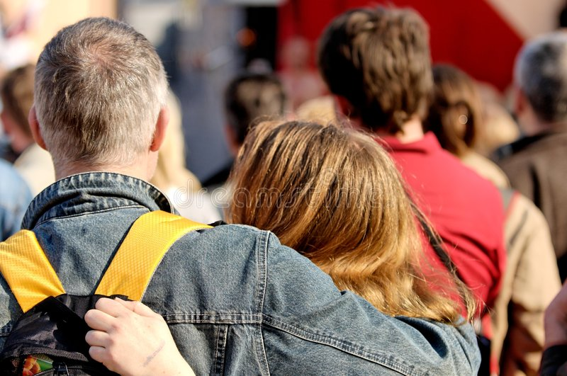 Download Couple Spectators stock photo. Image of audience, athletic - 2150926