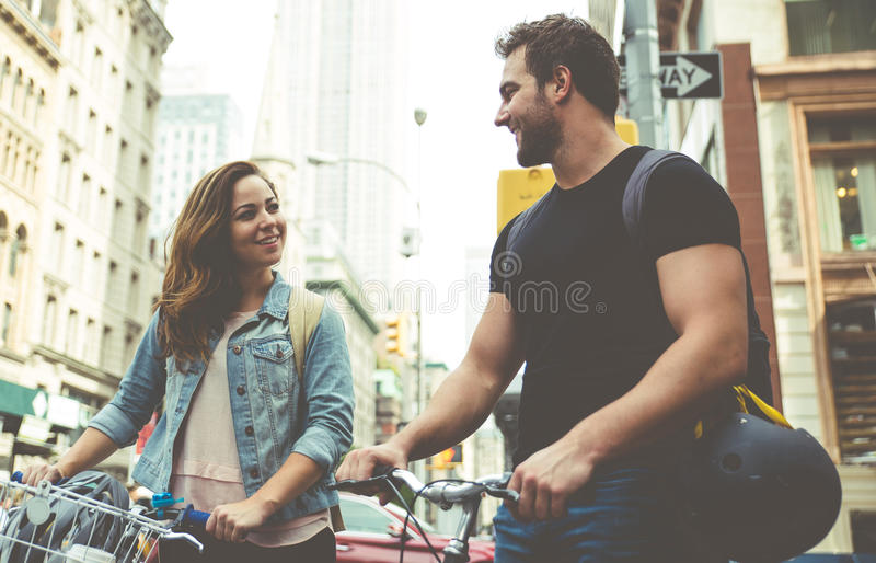 Couple spending time together royalty free stock photo