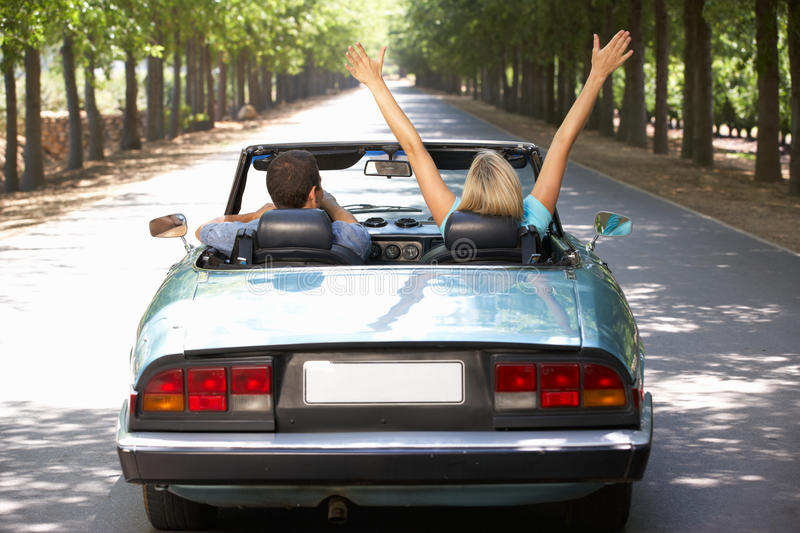 Download Couple in sports car stock photo. Image of caucasian - 21028000