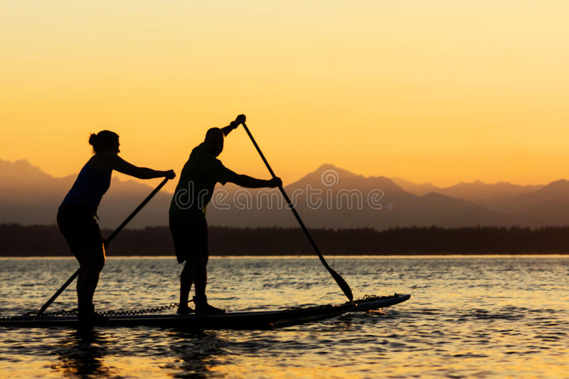 Download Couple On Stand Up Paddle Boards Stock Photo - Image: 26712890