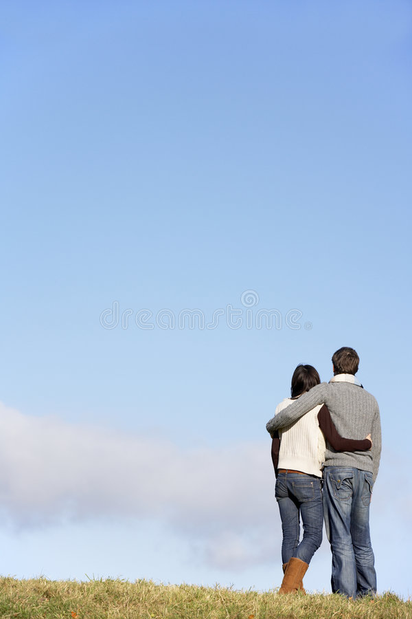 Download Couple Standing In The Park Stock Photography - Image: 7942162