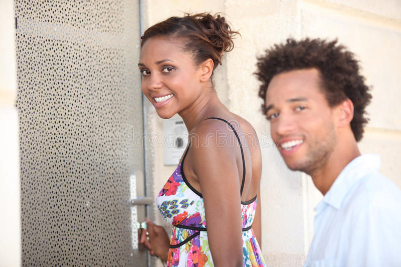 Download Couple stood by a door stock photo. Image of up, free - 27227834