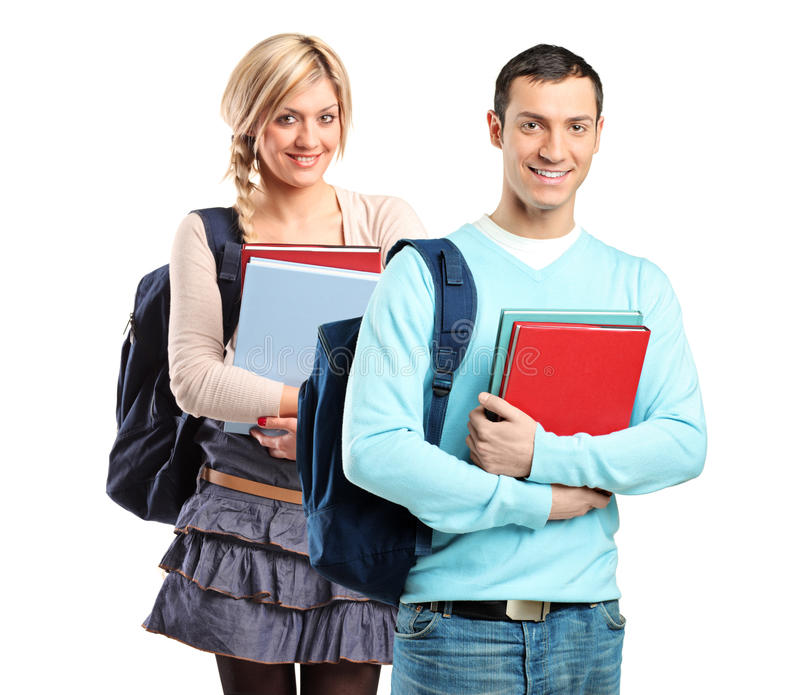 Download A Couple Of Student Holding Books Stock Photo - Image: 17734228