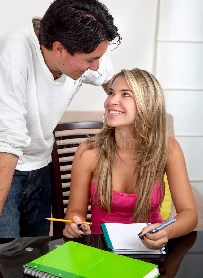 Download Couple of students stock image. Image of academic, home - 12087421