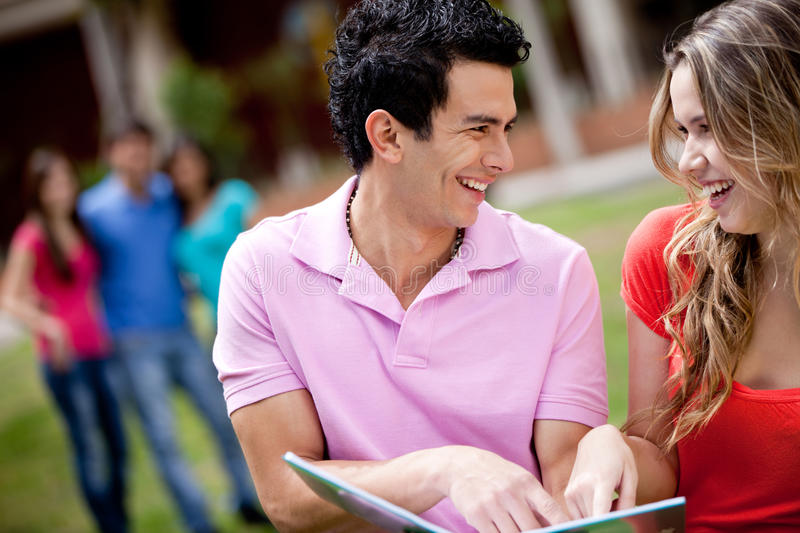 Download Couple of students stock image. Image of smile, students - 18519623