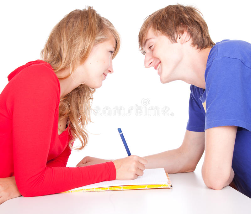 Download Couple Students Studying Together Stock Image - Image of student, girl: 21778983