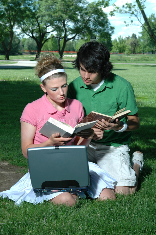 Couple Studying royalty free stock photos