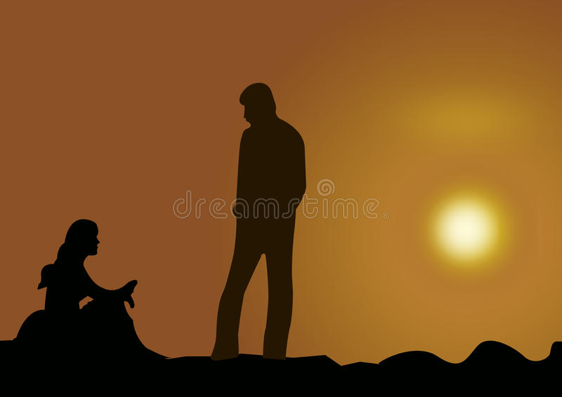 Download Couple At Sunset Royalty Free Stock Image - Image: 10693456