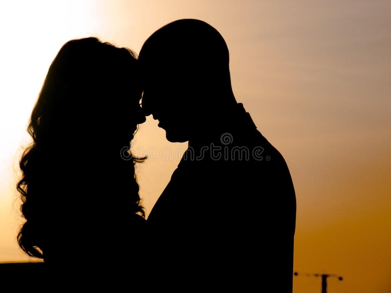 Download A couple at sunset stock image. Image of couple, woman - 16291899