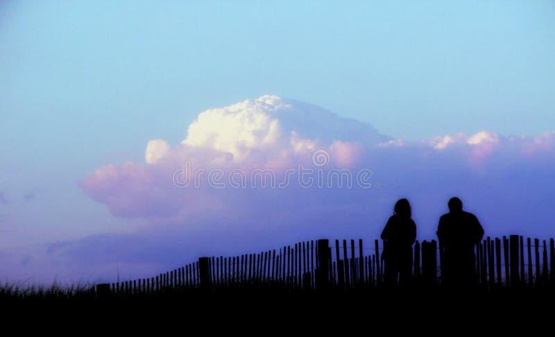 Couple at Sunset stock photos