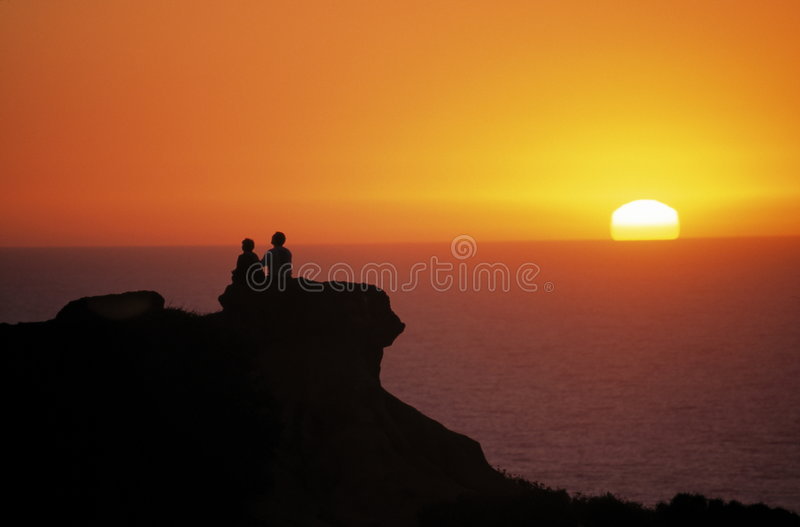 Download Couple at Sunset stock photo. Image of holding, honey - 1953366