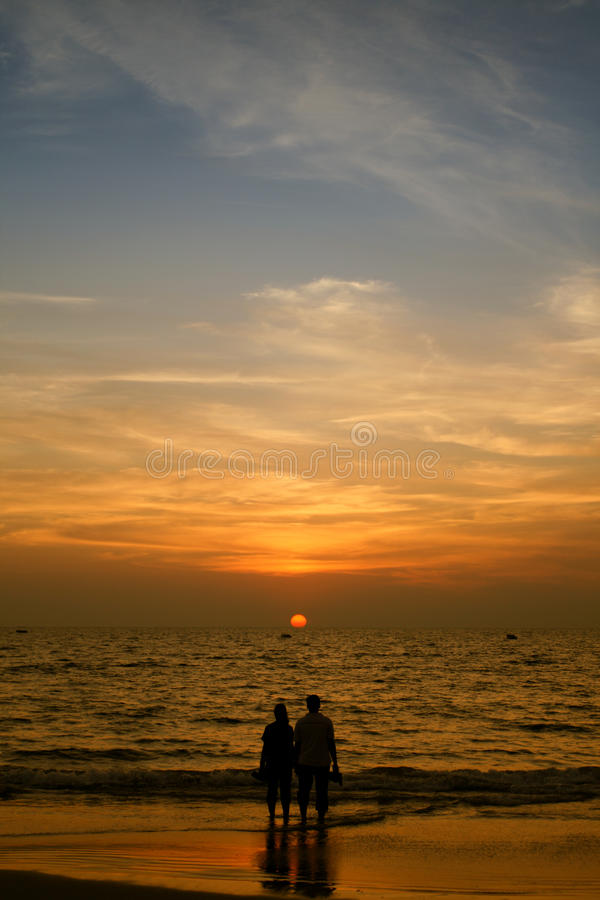 Download Couple and sunset stock image. Image of pacific, sunshine - 22519991