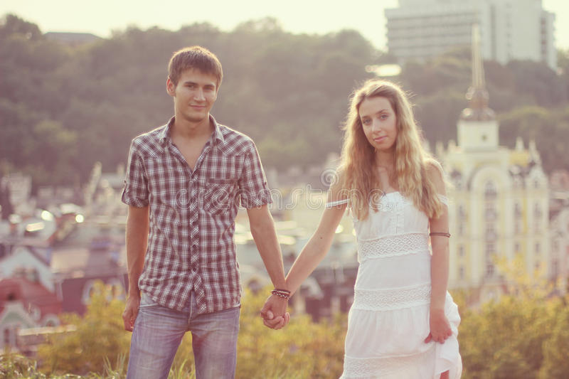 Download Couple at sunset stock image. Image of love, happiness - 23829489