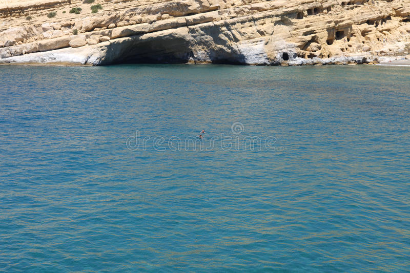 Download Couple Swimming In The Mediterranean Ocean Stock Photo - Image: 20052676