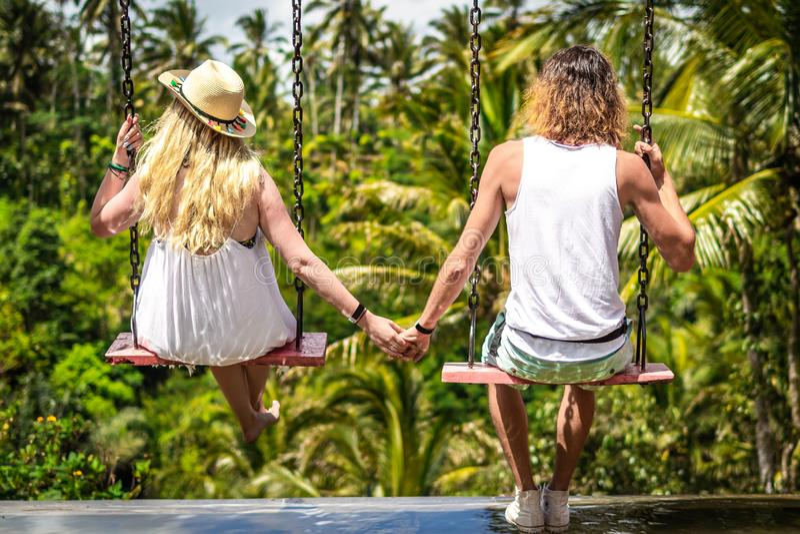 Couple Swinging In The Jungle Free Public Domain Cc0 Image