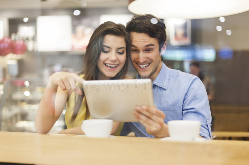 Download Couple with tablet stock photo. Image of note, reflection - 37800120