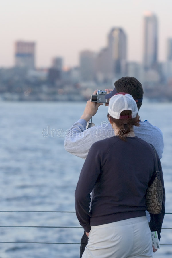 Download Couple taking picture stock photo. Image of city, camera - 132170