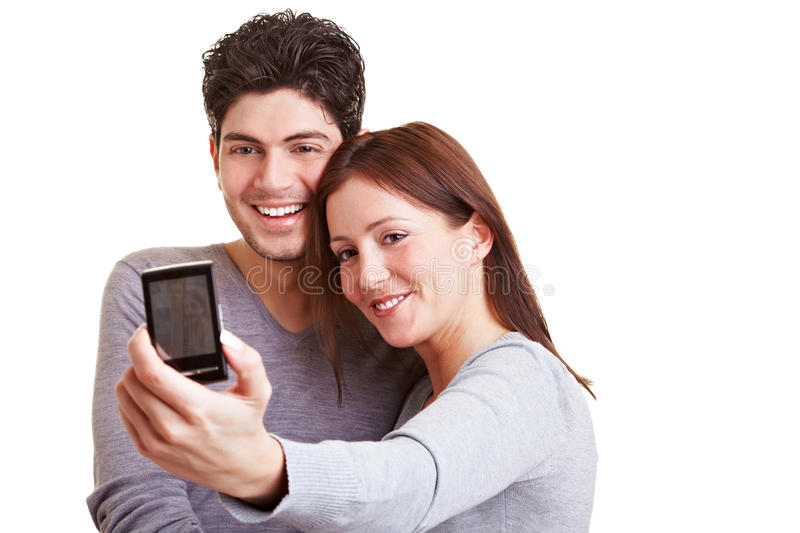Download Couple Taking Self Portraits Stock Image - Image of couple, phone: 19110821