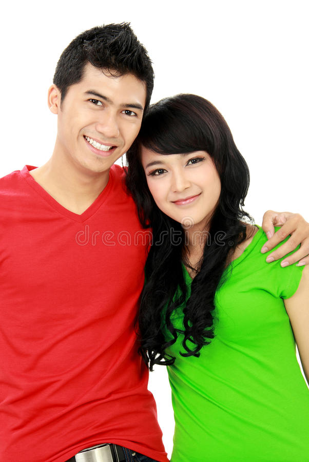 Couple of teenager royalty free stock photo