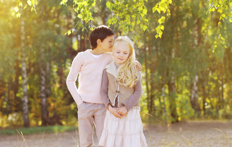 Couple teenagers royalty free stock photography
