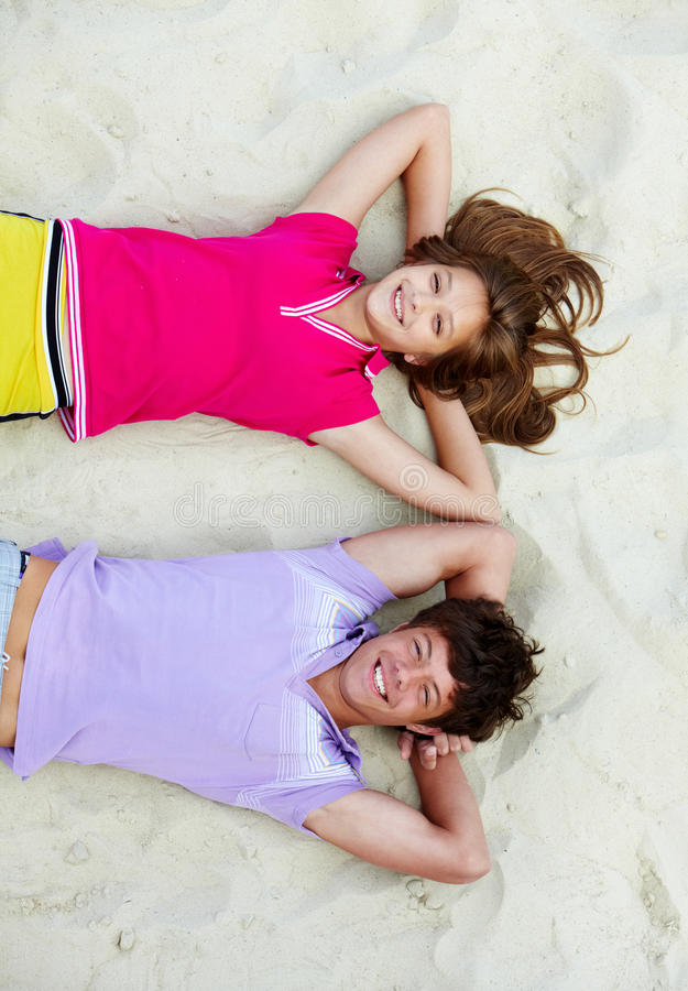 Couple Of Teens Royalty Free Stock Photo