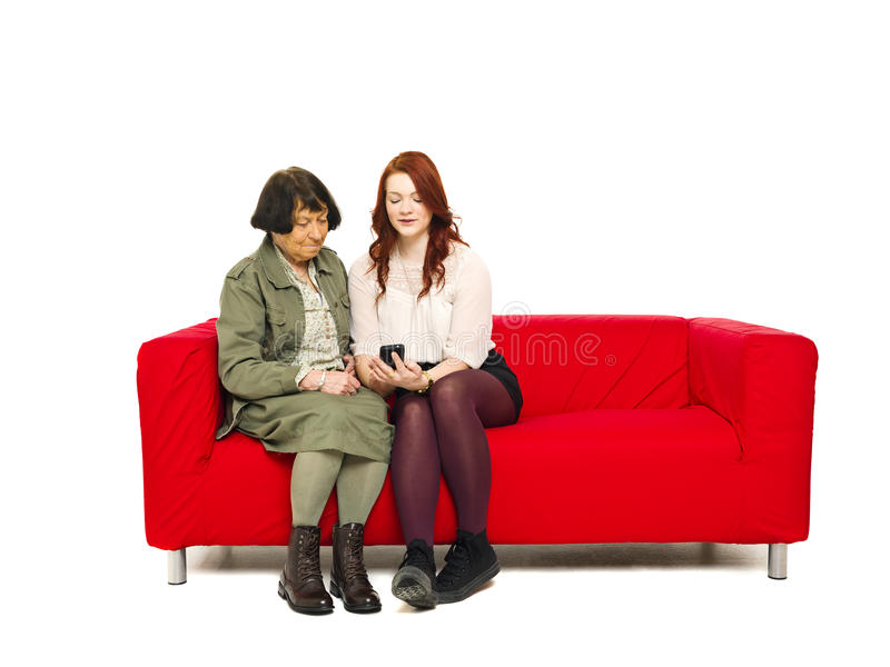 Download Couple with telephone stock image. Image of down, family - 28058789