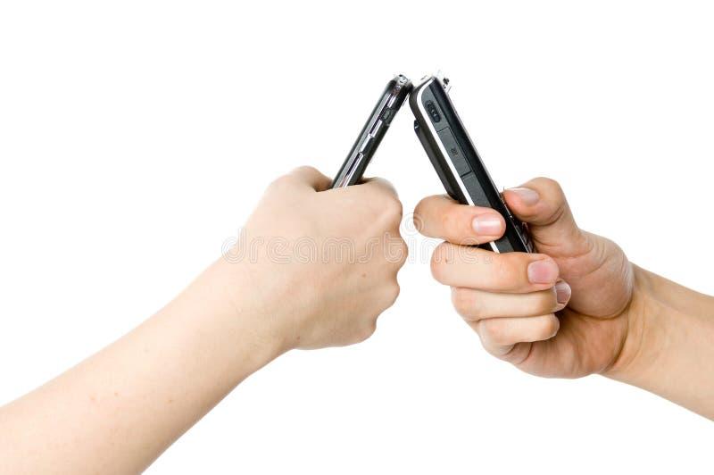 Couple Texting stock photos