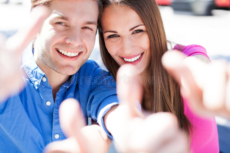 Download Couple with thumbs up stock photo. Image of couple, enjoying - 31408106
