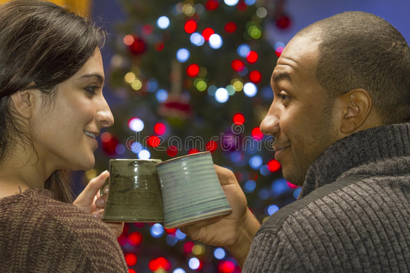 Download Couple Toast Each Other During Holidays, Horizontal Stock Photo - Image: 34307780