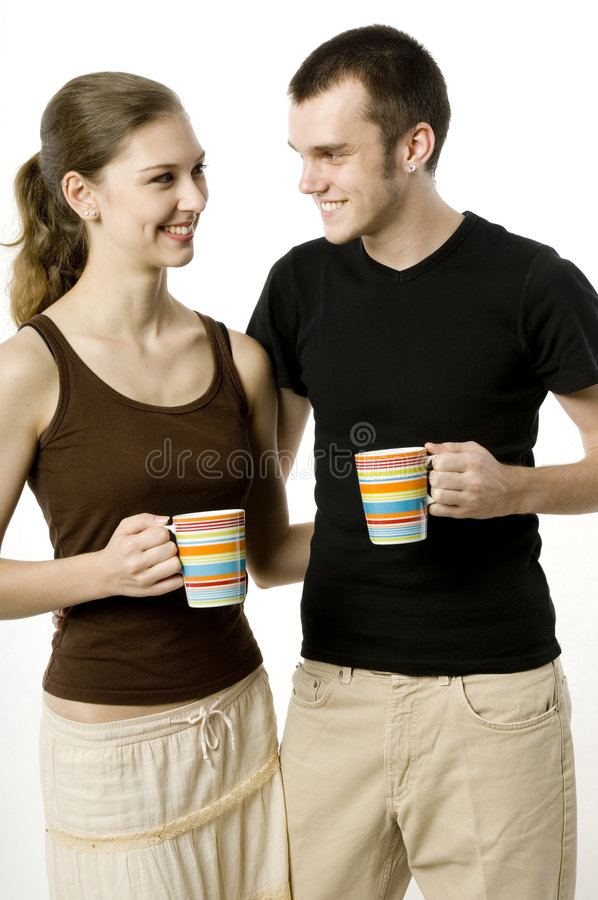 Couple Together stock image