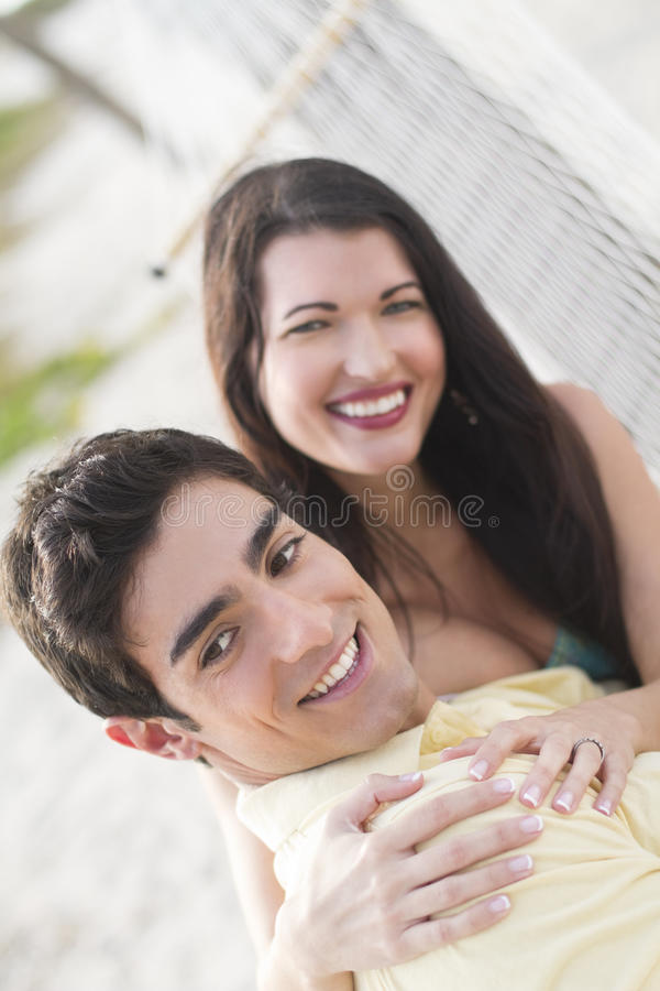 Couple togther on a hammock