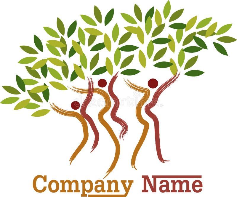 Couple tree symbol stock illustration